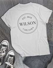Personalised Legacy Stamp T Shirt