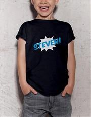 Personalised Boom Kids T Shirt