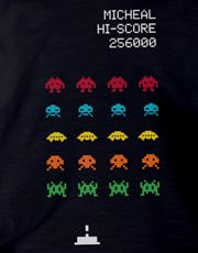 Personalised Space Invaders Kids T Shirt