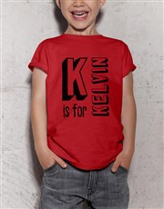 Personalised Letter Kids T Shirt