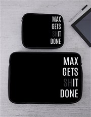 Personalised Gets It Done Tablet or Laptop Sleeve