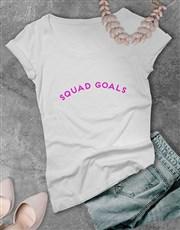 Personalised Squad Goals White T Shirt