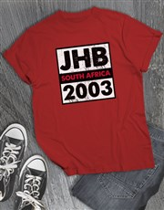 Personalised Place and Year T Shirt