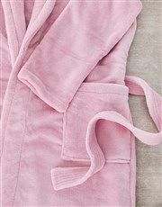 Personalised Floral Fleece Gown And Slipper Set