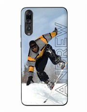 Personalised Ghost Text Photo Huawei Cover