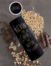 Personalised Legend Biltong and Nut Tube