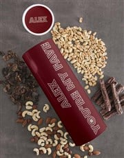 Personalised Fave Biltong and Nut Tube
