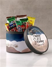 Personalised Glitter Galaxy Birthday Hat Box