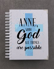 Personalised All Things Are Possible A5 Journal