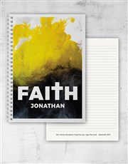 Personalised Notebook Of Faith