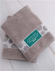 Personalised Circles Stone Towel Set