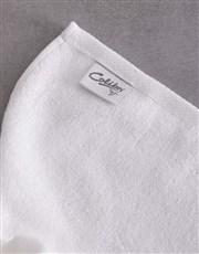 Personalised Floral White Towel Set