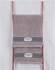 Personalised Damask Stone Towel Set