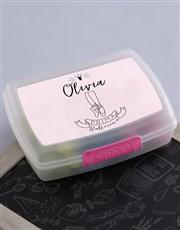 Personalised Ballerina Girls Lunch Box