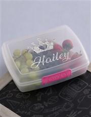 Personalised Princess Girls Lunch Box