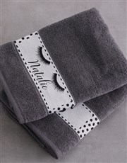Personalised Stache and Lash Towel Set