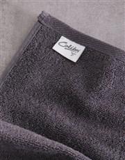 Personalised Royal Charcoal Towel Set