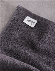 Personalised Hubby and Wifey Charcoal Towel Set