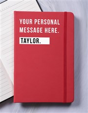 Personalised Just For You A5 Notebook