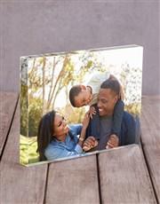 Personalised Photo Upload Acrylic Block