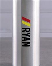 Personalised Silver Racing Stripe Waterbottle