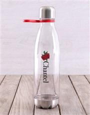 Personalised Rose Tritan Waterbottle