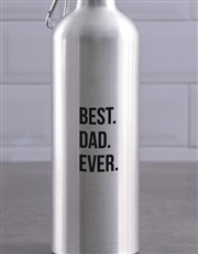 Personalised Best Ever Silver Waterbottle