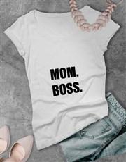 Personalised Titles of Mom Ladies T-Shirt