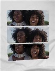 Personalised Trio Landscape Photo Ladies T Shirt