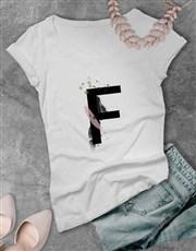 Personalised Graffiti Letter Ladies T-Shirt