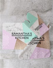 Personalised Marble Glass Chopping Board