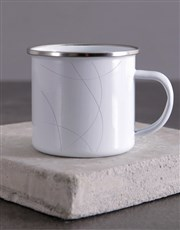 Personalised Floral Monogram Camper Mug