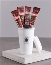 Personalised Floral Mongogram Ceramic Travel Mug