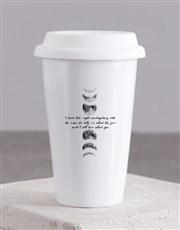 Personalised Moon Ceramic Travel Mug