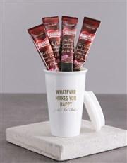 Personalised Whatever Makes You Happy Ceramic Trav