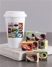 Personalised Hero Daddy Ceramic Travel Mug