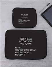 Personalised Just In Case Tablet or Laptop Sleeve