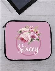 Personalised Roses Tablet or Laptop Sleeve