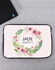Personalised Floral Wonder Tablet or Laptop Sleeve