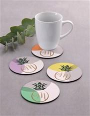 Personalised Colourful Coaster Set