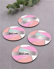 Personalised Shapes Coaster Set