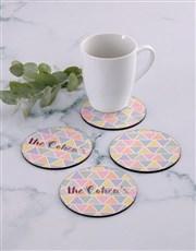 Personalised Pyramid Colours Coaster Set