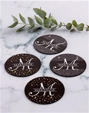 Personalised Stars Coaster Set