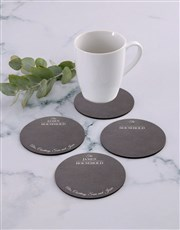 Personalised Household Coaster Set