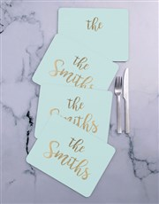 Personalised Family Name  Placemat Set
