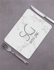 Personalised  Marble Placemat Set