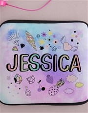Personalised Neoprene Badge Tablet Cover