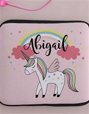 Personalised Neoprene Unicorn Tablet Cover