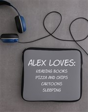 Personalised Neoprene Favourites Tablet Cover