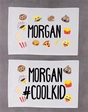 Personalised Emoji Pillow Case Set